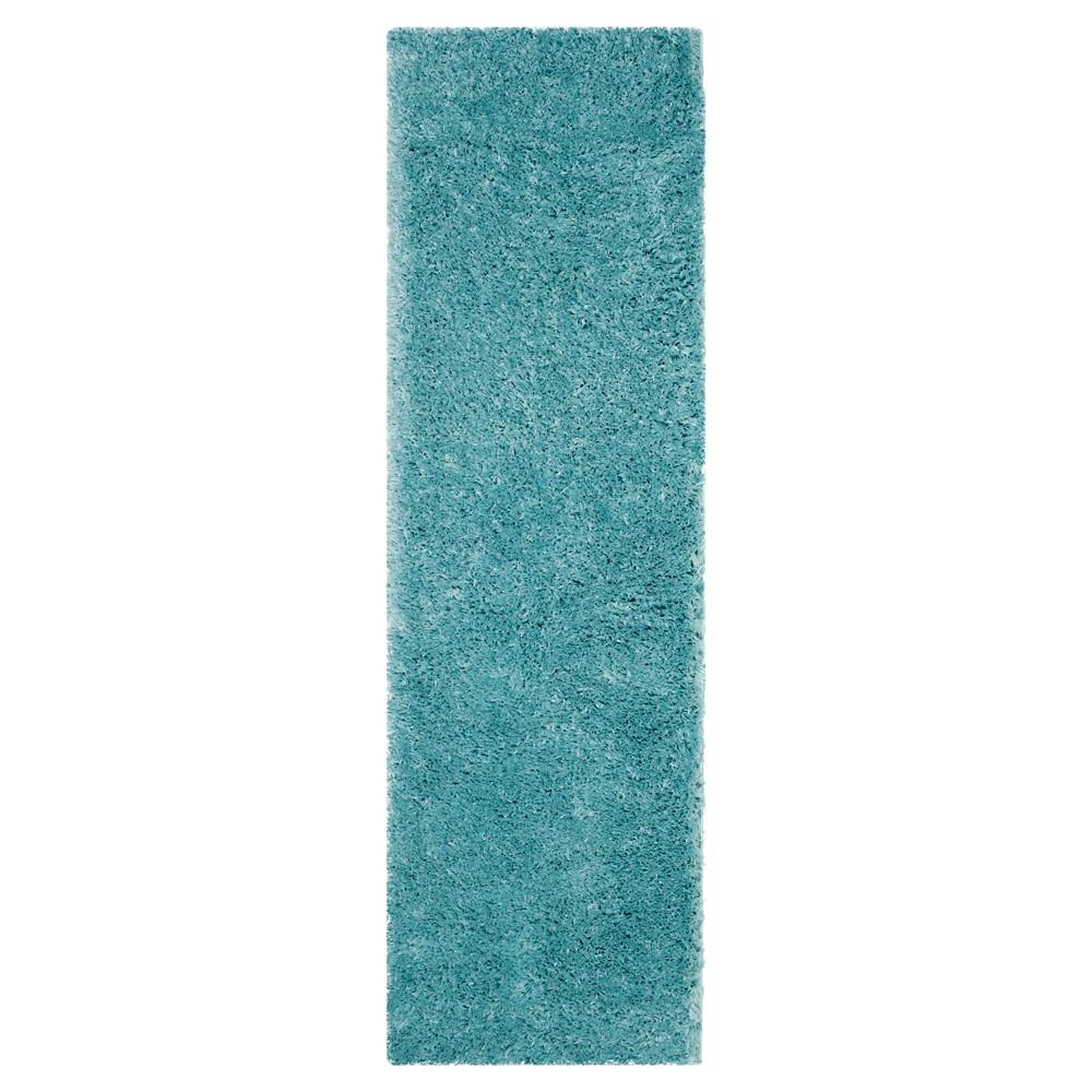 2 39 3 34 X8 39 Runner Solid Loomed Rug Turquoise Safavieh