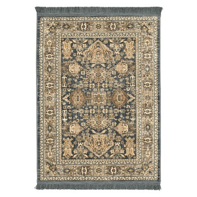 7'x10' Woven Floral Area Rug Blue - Threshold™
