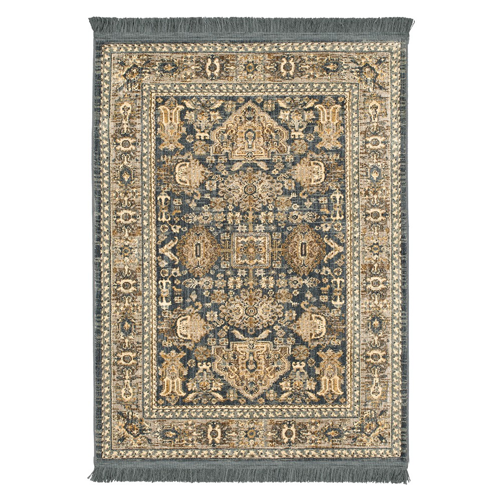 Blue Floral Woven Area Rug 7'x10' - Threshold
