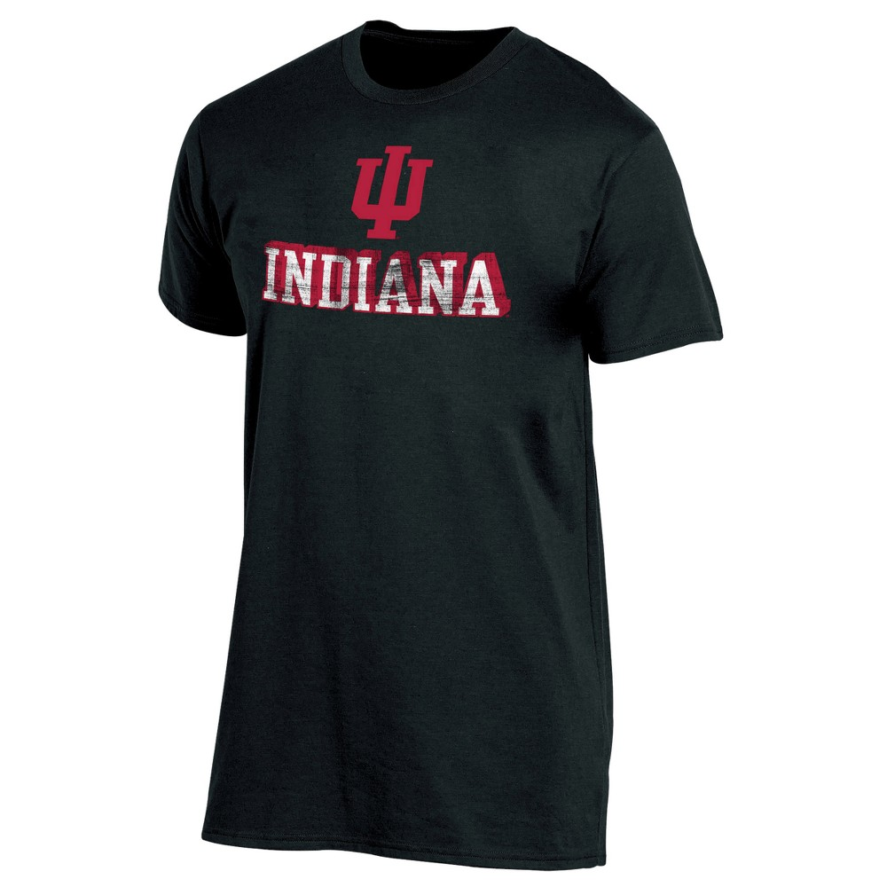 Indiana Hoosiers Men's Short Sleeve Keep the Lights On Bi-Blend Gray Heathered T-Shirt S, Multicolored