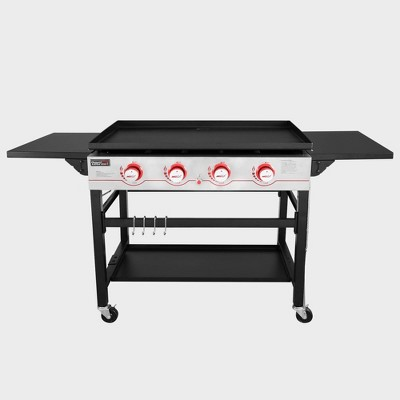 4 Burner Propane Gas Grill Griddle GB4000 Black - Royal Gourmet