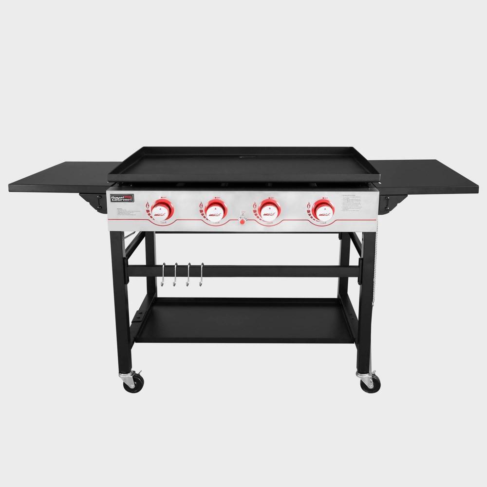 Image of 4 Burner Propane Gas Grill Griddle GB4000 Black - Royal Gourmet