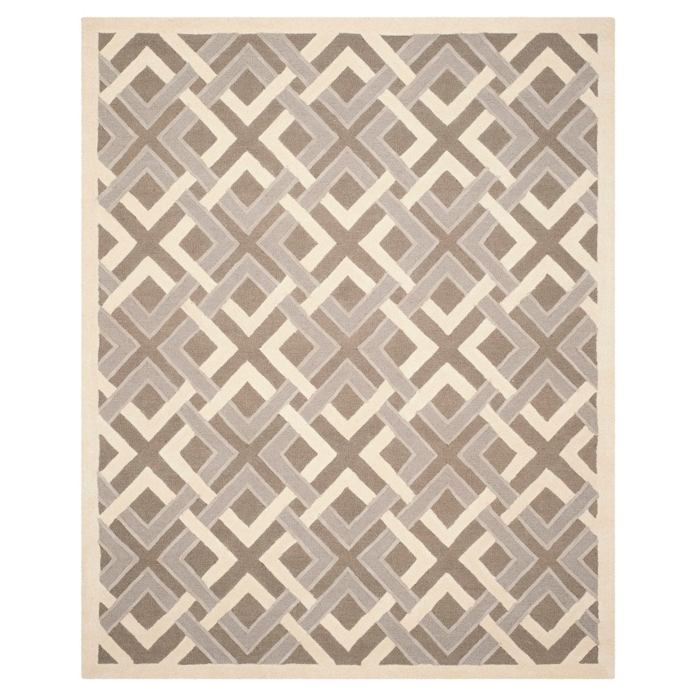 Natural Fiber Rug - Taupe/Ivory - (8'x10') - Safavieh, White Brown