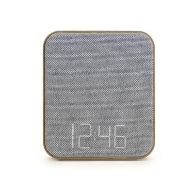 Wood Sound Sleep Alarm Table Clock Gray - Capello