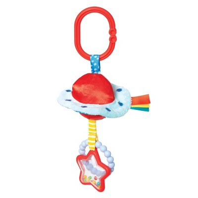 Manhattan Toy UFO Clip-on Baby Travel Toy with Rattles and Teethers