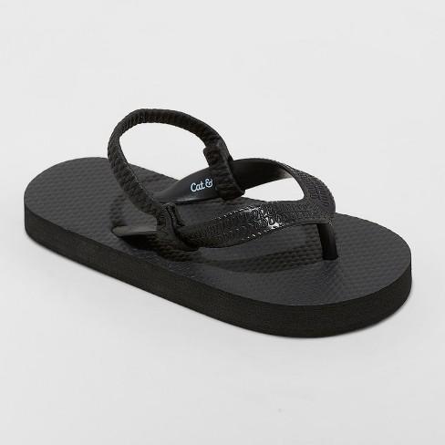 6376baeabc51 Toddler Boys  Lance Flip Flop Sandals - Cat   Jack™ Black   Target