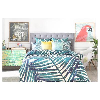 Zoe Wodarz The Palm Hotel Botanical Pillow Sham Green - Deny Designs®