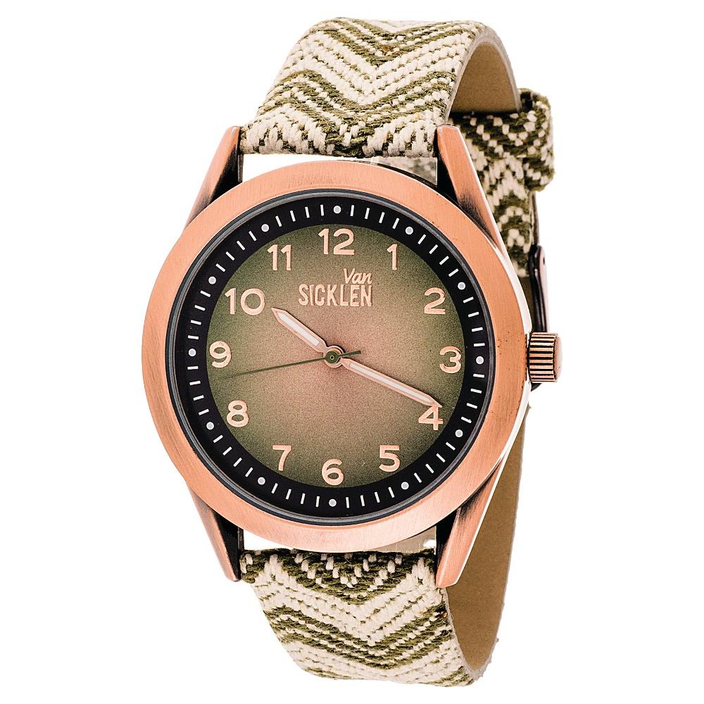 Van Sicklen Analog Wristwatch - Brown Chevron, Men's, Heather