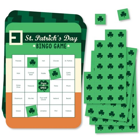 Big Dot of Happiness St. Patrick's Day - Bar Bingo Cards and Markers - Saint Patty's Day Party Bingo Game - Set of 18 - image 1 of 4