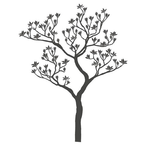 Romantic Tree Wall Decal - Gray - image 1 of 2