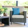 Draper 4pc Patio Seating Set with Sunbrella Fabric - Tan - Leisure Made - image 3 of 7