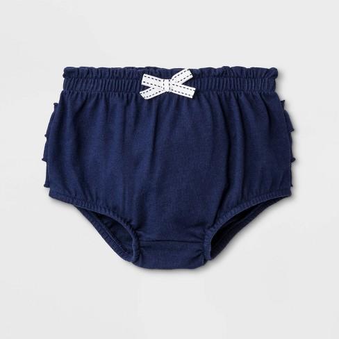 Baby Girls' Ruffle Bloomer Pull-On Shorts - Cat & Jack™ Blue - image 1 of 2