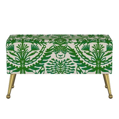 Jayda Storage Bench with Splayed Eulalia Green - Opalhouse™