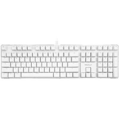 Macally Backlit Mechanical Full USB-A Brown Switches Keyboard - White