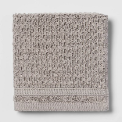Performance Washcloth Gray Texture - Threshold™