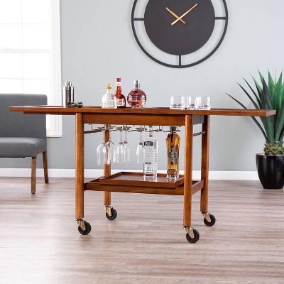 Karymore Adjustable Kitchen Cart with Storage Brown - Holly & Martin