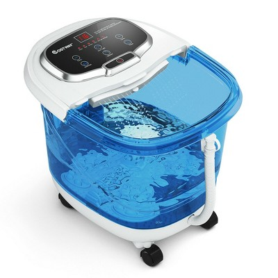 Costway Portable Foot Spa Bath Motorized Massager Electric Feet Salon Tub w/Shower Timer