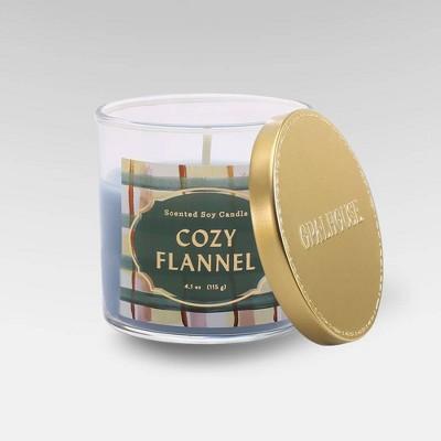 4.1oz Lidded Glass Jar Candle Cozy Flannel - Opalhouse™