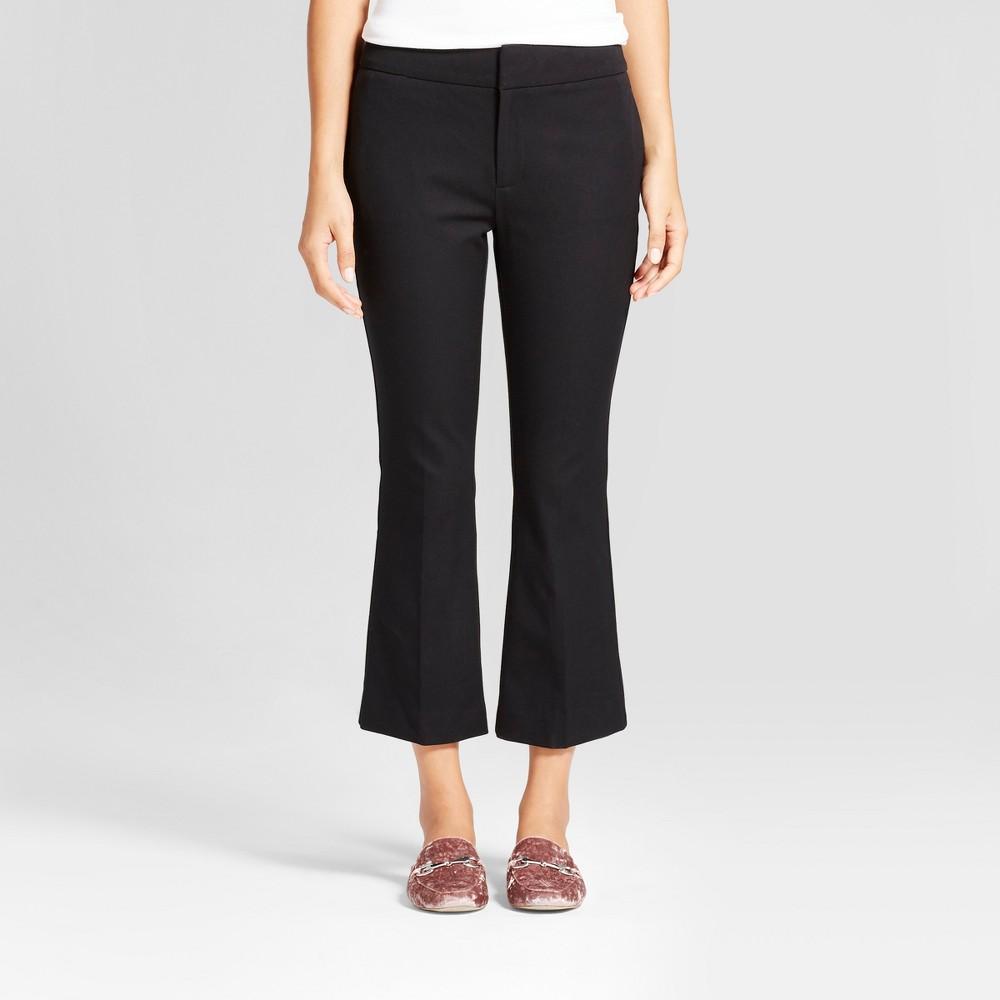 Women's Kick Flare Bi-Stretch Twill Pants - A New Day Black 0