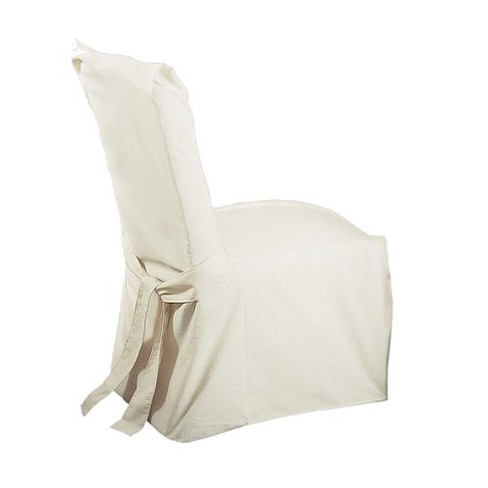 Cotton Duck Long Dining Room Chair Slipcover Sure Fit