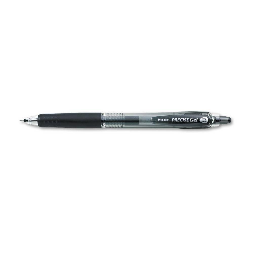 Image of Pilot 12ct Precise BeGreen Retractable Gel Roller Pens Fine Point 0.7mm Black