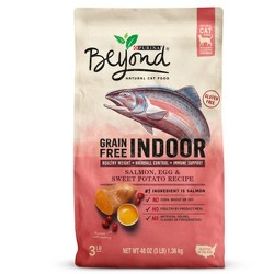 Purina Beyond Indoor Grain Free Salmon, Egg & Sweet Potato Recipe Dry Cat Food - 3lbs