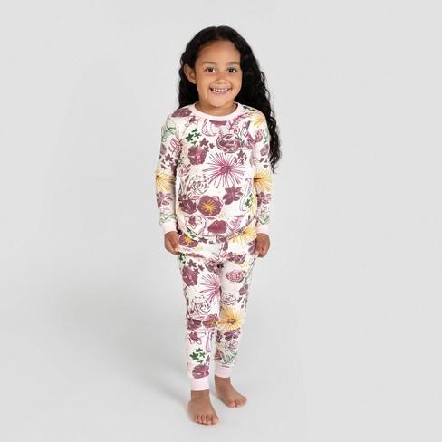 Burt's Bees Baby® Toddler Girls' Floral Organic Cotton Pajama Set - Pink - image 1 of 3