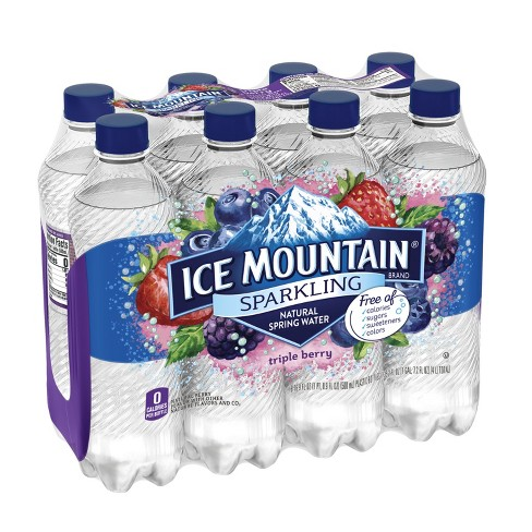 Ice Mountain Triple Berry Flavored Sparkling Water - 8pk/16.9 fl oz Bottles - image 1 of 10