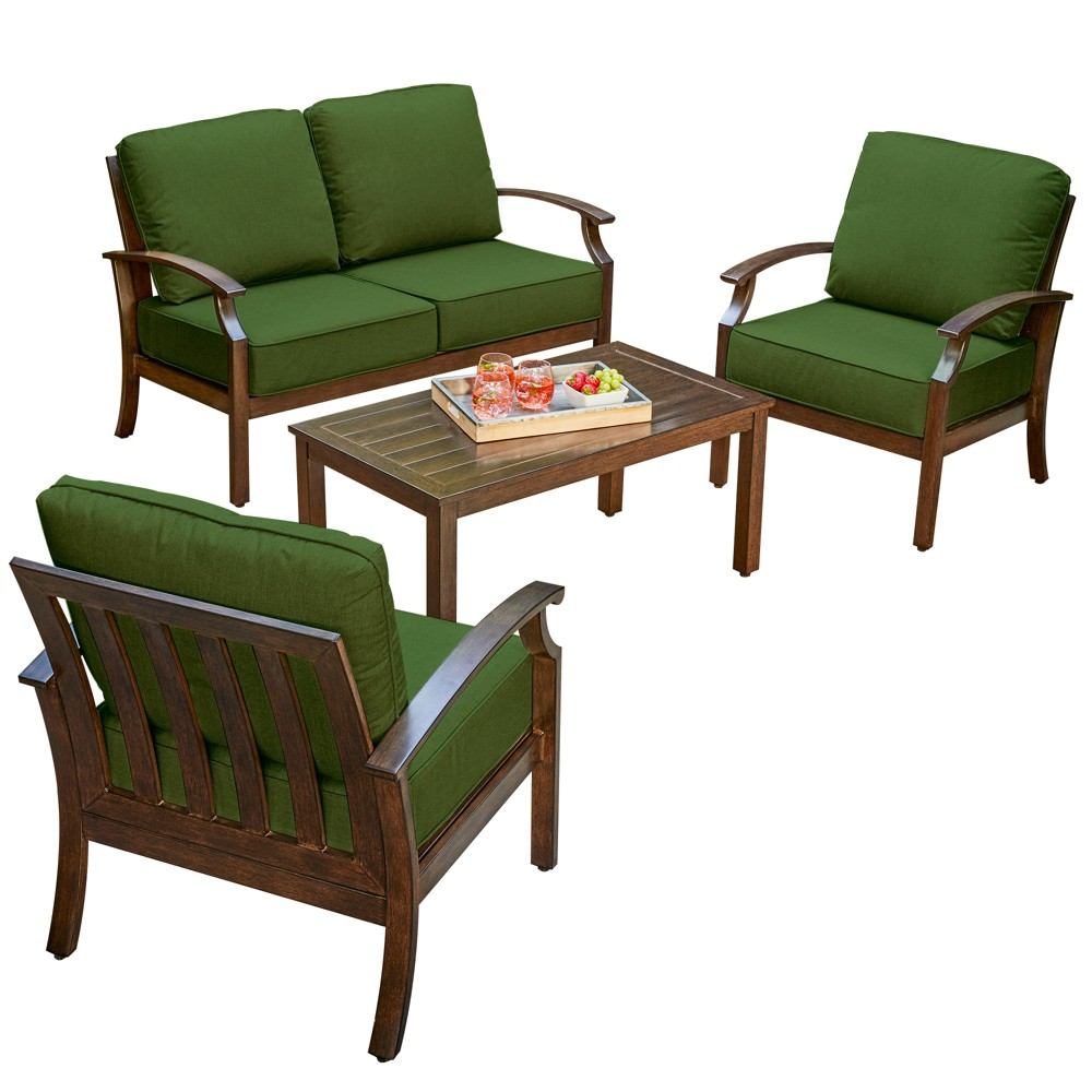 Image of 4pc Bridgeport Conversation Set Green - Royal Garden