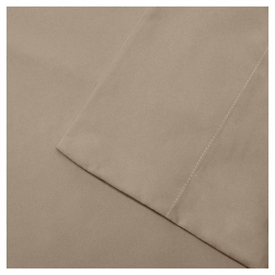 Full 3M Microcell All Season Moisture Wicking Lightweight Sheet Set Khaki