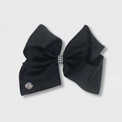 Girls' JoJo Siwa Black Solid with Rhinestone Bow