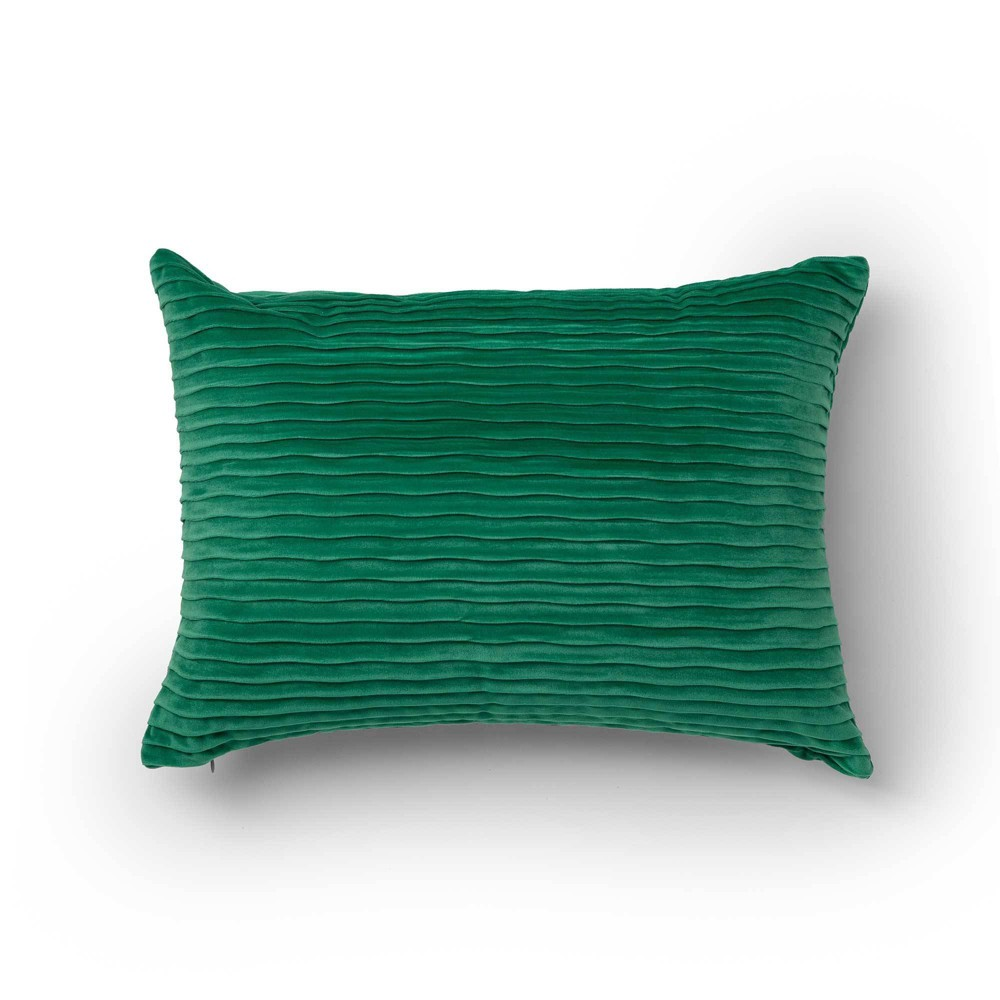 "Image of ""14""""x20"""" Oza Decorative Throw Pillow Green - SureFit"""