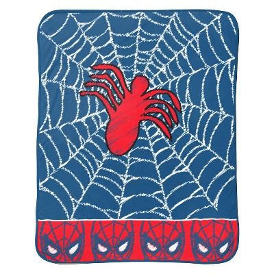 "Marvel Spider-Man 46""x60"" Throw Blanket Blue/Red"