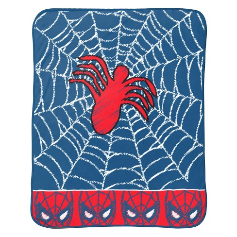 "Marvel Spider-Man 46""x60"" Throw Blanket Blue/Red - image 1 of 3"