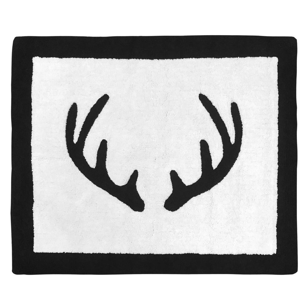 Image of 2'x3' Woodland Deer Rug Black/White - Sweet Jojo Designs