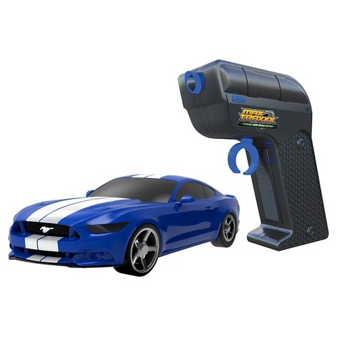 Max Traxxx Tracer Racers RC Car and Controller Blue Mustang - image 1 of 2