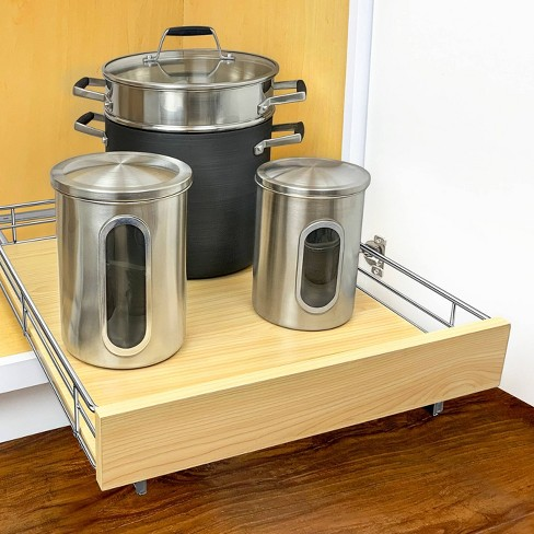 Lynk Professional 17 X 22 Chrome Kitchen Cabinet Organizer