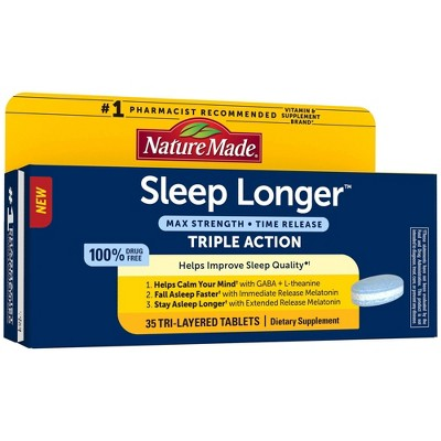 Nature Made Sleep Longer Triple Action Tablets - 35ct