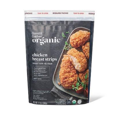 Organic Chicken Breast Strips - Frozen - 12oz - Good & Gather™