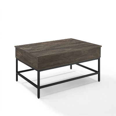 Jacobsen Lift Top Storage Coffee Table Brown/Charcoal - Crosley