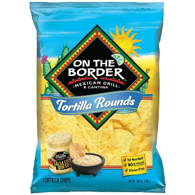 On The Border Premium Rounds Tortilla Chips - 10.5oz