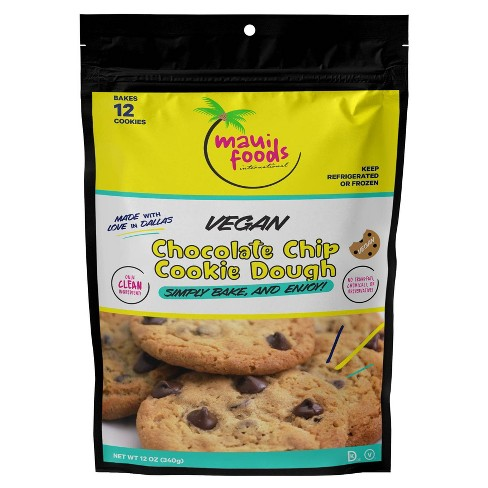 Maui Foods Frozen Gourmet Vegan Chocolate Chip Bake at Home Cookie Dough - 12oz - image 1 of 4