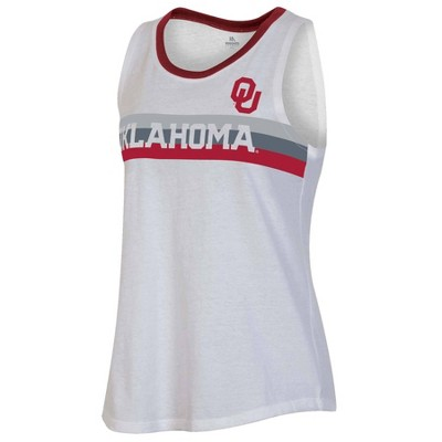 NCAA Oklahoma Sooners Women's White Tank Top
