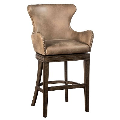 Caydena Memory Return Barstool Gray - Hillsdale Furniture