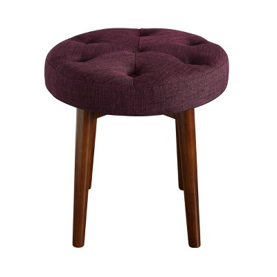 Penelope Round Tufted Stool - Adore Décor