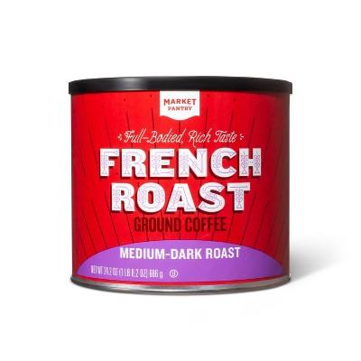 French Roast Medium-Dark Roast Ground Coffee - 27.8oz - Market Pantry™