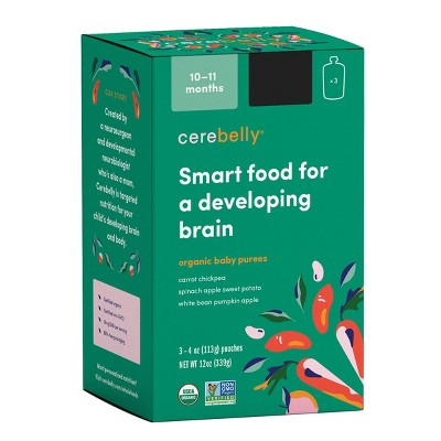 Cerebelly Clean Label Project Purity Award Winning, 10-11 Months Organic Baby Food Variety pk