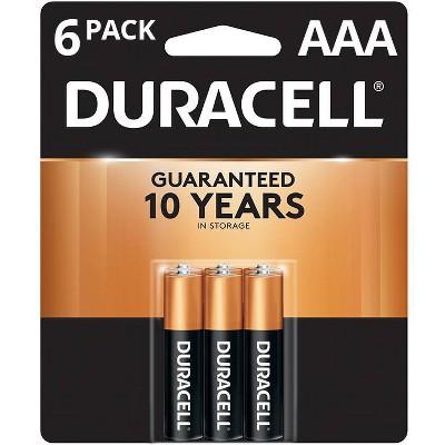 Duracell Coppertop AAA Batteries - 6 Pack Alkaline Battery