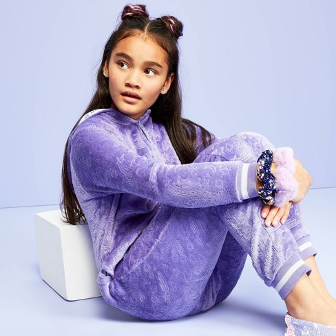 Girls' Sleeper Blanket - More than Magic™ Purple - image 1 of 3