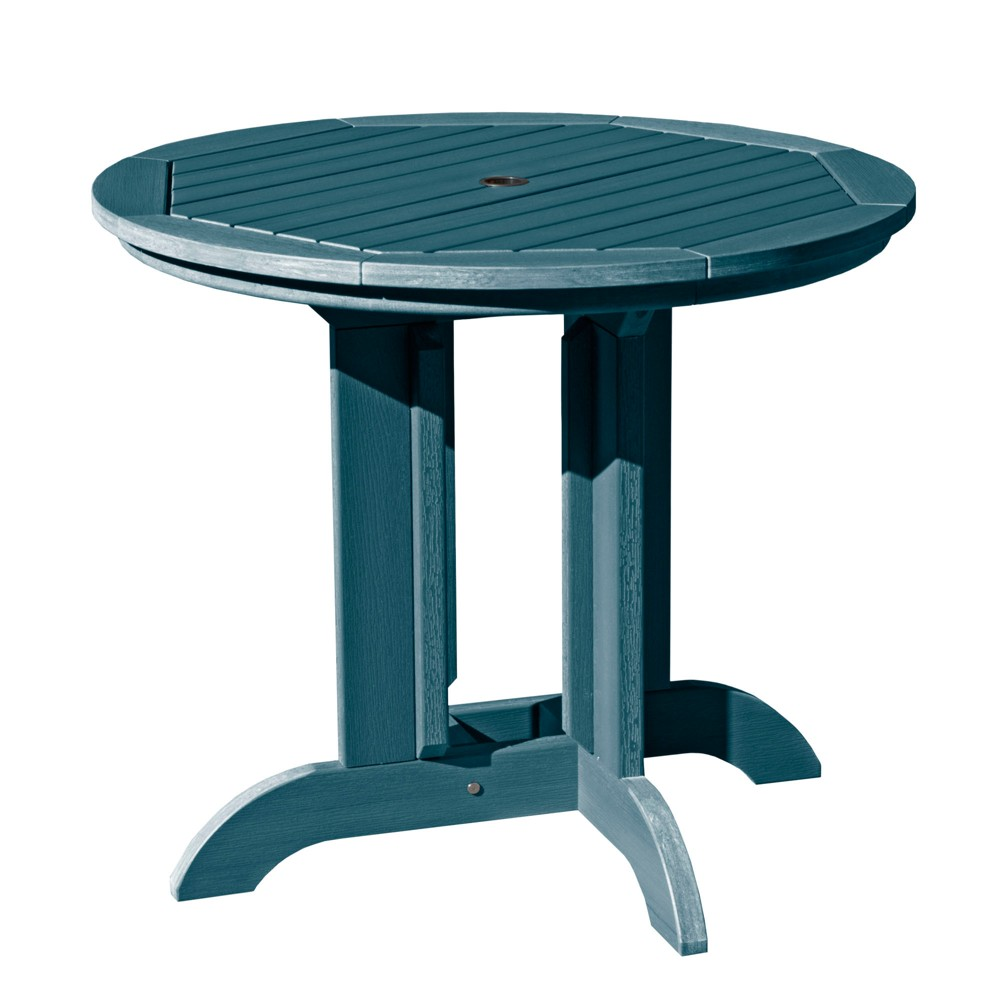 """Image of """"36"""""""" Round Patio Dining Table Nantucket Blue - highwood"""""""